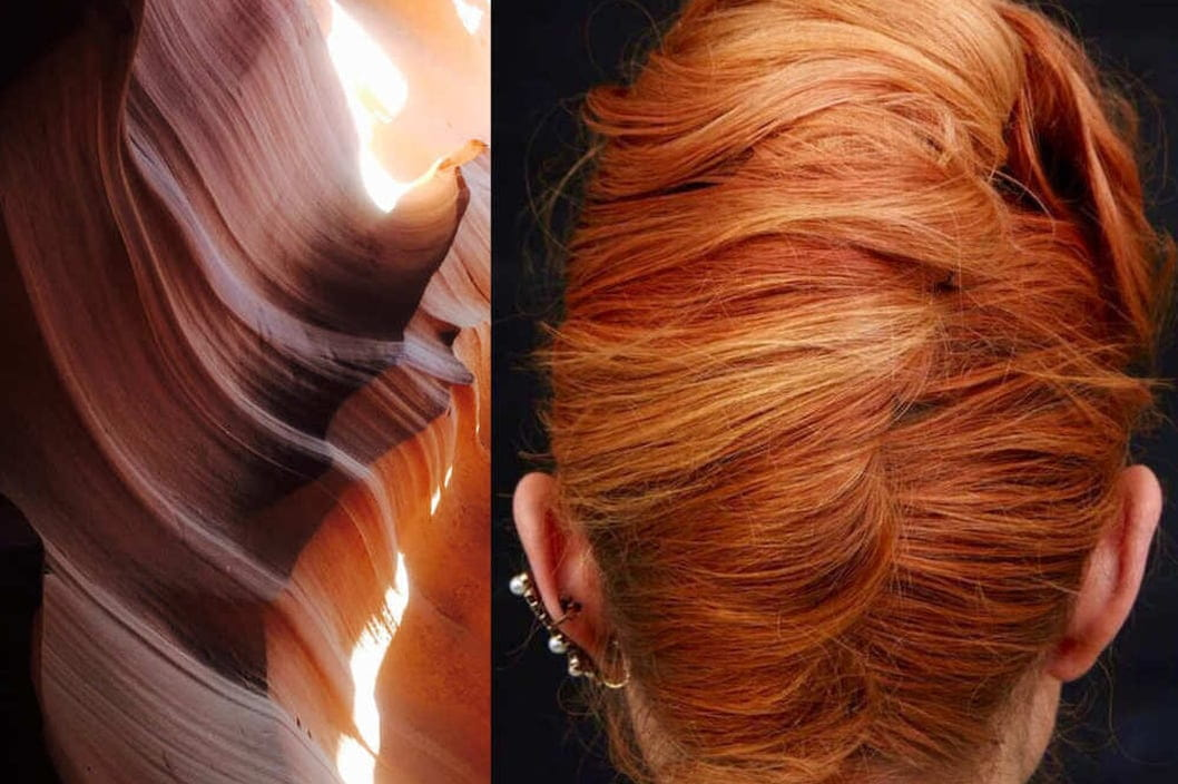 Antelope Canyon also inspired this summer hair color inspiration by Roxie Darling.