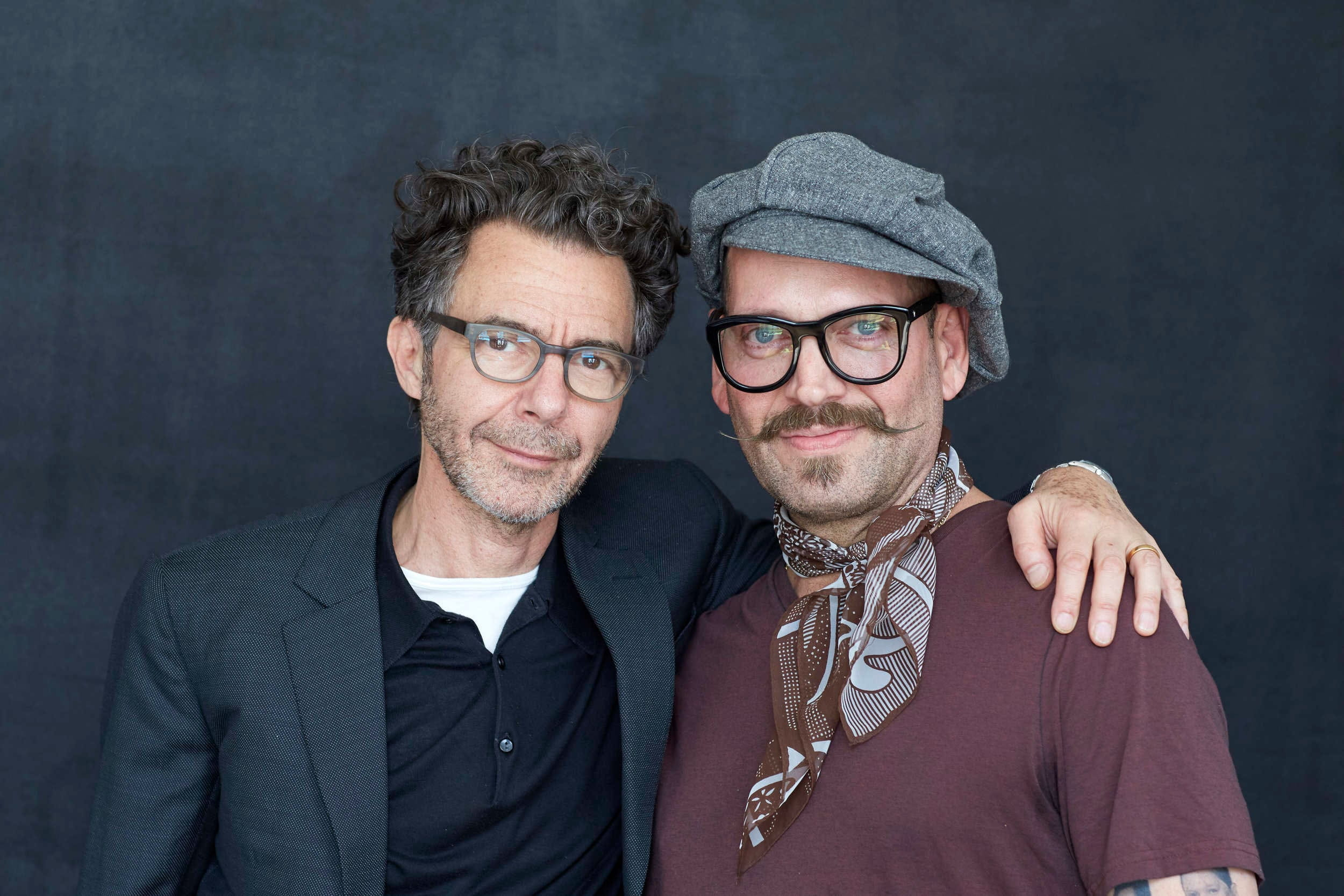 Alberto and Michael Gordon at Hairstory Studio
